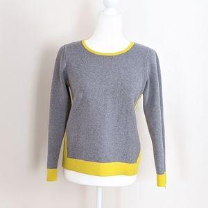 BODEN | Color Block Highlighter Zip Wool Sweater 6